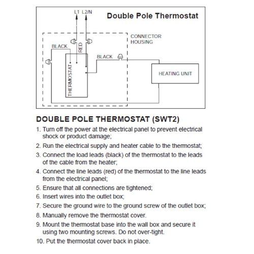 51nvny1ECsL line voltage thermostat, electric heaters only stelpro swt2f double pole thermostat wiring diagram at soozxer.org