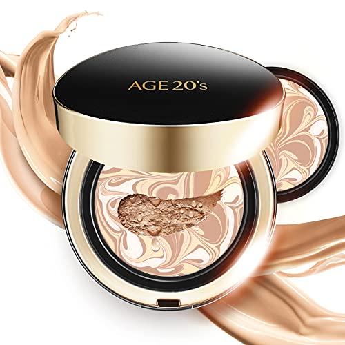 AGE 20's Signature Intense Full Coverage 71% Essence Cushion Foundation, Sunscreen Korean Makeup SPF 50+, Refill #21…