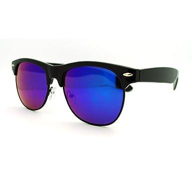 Amazon.com: Multicolor reflectante lente anteojos de sol ...