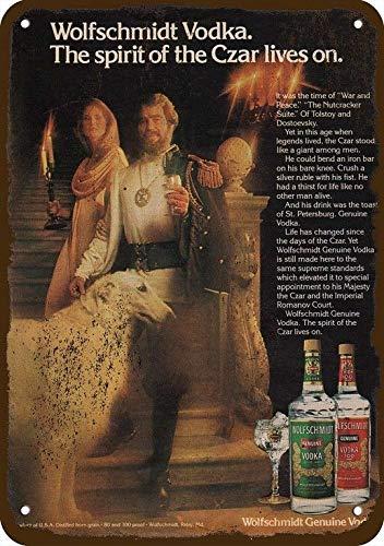 - Yilooom 1979 Wolfschmidt Vodka Vintage Look Replica Metal Sign 7