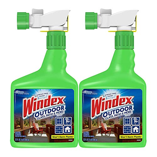 Windex Outdoor Glass and Patio Concentrated Cleaner, 32 Ounce, Pack of 2 (Packaging May Vary) (Pack of 4) by Windex (Image #1)