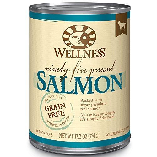 Wellness 95% Salmon Natural Wet Grain Free Canned Dog Food, 13.2-Ounce Can (Pack Of 12)
