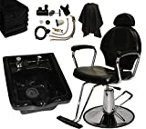 LCL Beauty ABS Shampoo Bowl and Hydraulic All Purpose Reclining Chair Deluxe Shampoo Package