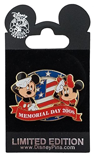 Disney Pin - As Pictured - Memorial Day 2008 - Mickey & Minnie (Disney Memorial)