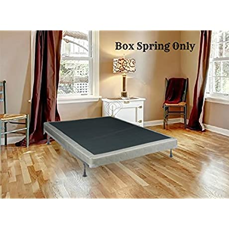 Spring Solution Long Lasting Queen Size 8 Fully Assembled Box Spring For Mattress Deluxe Collection