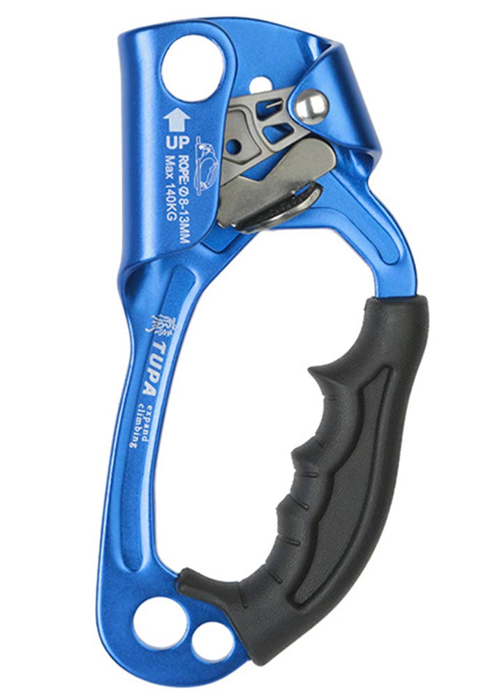 NewDoar Hand Ascender Rock Climbing Tree Arborist Rappelling Gear Equipment Rope Clamp for 8~13MM Rope(Blue pro) by NewDoar