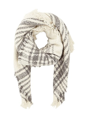 PuC Woman's Cosy Scarf Cloth in bouclé look wrap warm - Offwhite (Optik-online)