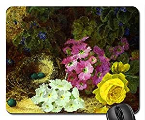 Painting Mouse Pad, Mousepad (Flowers Mouse Pad, 10.2 x 8.3 x 0.12 inches)