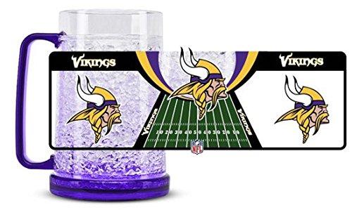 Official NFL 16oz Crystal Freezer Mug (MINNESOTA VIKINGS) (Freezer Mug Cardinals)