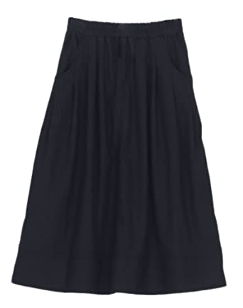 68933a2ec Soojun Women's Casual Loose Pleated Cotton Linen Long Maxi Skirts Black