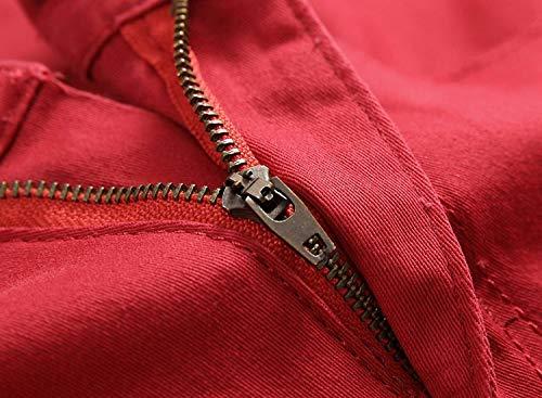 Ssige Il Tempo Libero Da Slim Battercake Rosso Media Vintage In Denim A Vita Elasticizzati Jeans Uomo Pantaloni Comodo Per qTva4xRZ