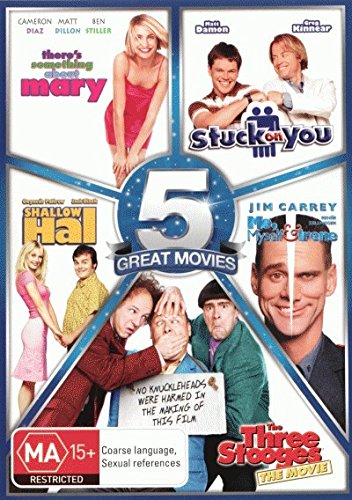 Farrelly Bros 5-Pack [There's Something About Mary + Stuck on You + Shallow Hal + Me, Myself and Irene + The Three Stooges - The Movie] [NON-USA Format / PAL / Region 4 Import - Australia]