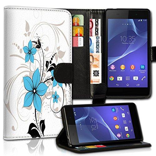 Wallet Book Style Flip Handy Tasche Case Schutz Hülle Schale Motiv Etui für Apple iPhone 5 / 5S - Design Flip MVD421