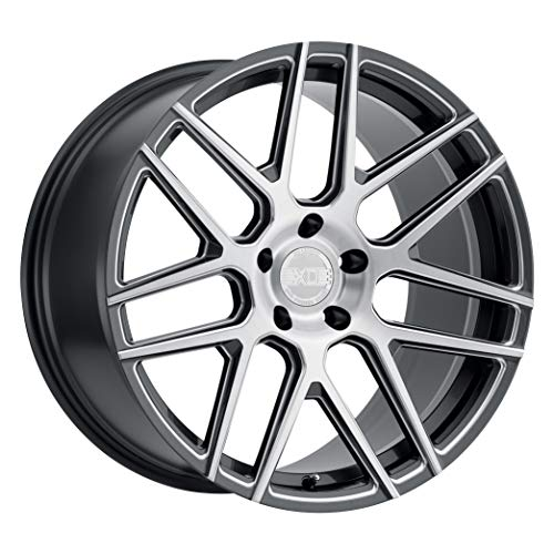 XO LUXURY Moscow Gloss Gunmetal Wheel with Painted Finish (19 x 11 inches /5x120 mm, 40 mm Offset)