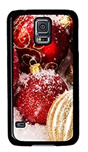 Diy Fashion Case for Samsung Galaxy S5,Black Plastic Case Shell for Samsung Galaxy S5 i9600 with Jingling Bell