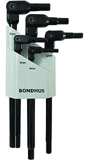 121mm Length Bondhus 88764 5mm HEX-PRO Pivot Head Wrench Chrome