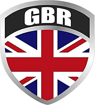MAGNET Great Britain British UK Union Jack Kingdom Shield Decal Badge Car MAGNETIC Sticker VAR