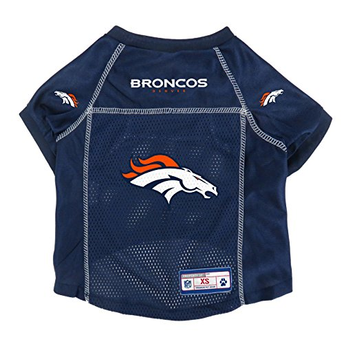 Littlearth NFL Denver Broncos Pet Jersey, (Broncos Blue Jersey)