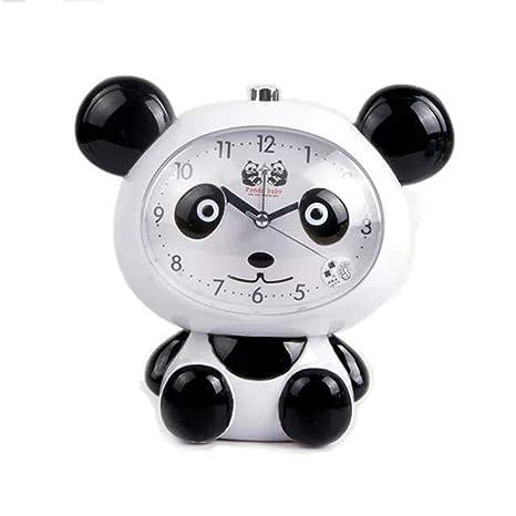 XDQFY Cartoon Cute Panda Alarm Clock Escritorio Relojes de ...
