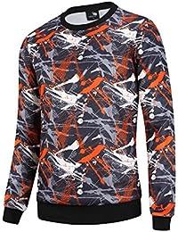 Men's Crewneck Sweatshirt Hoodie Camouflage For Boys Fleece Casual Shirt