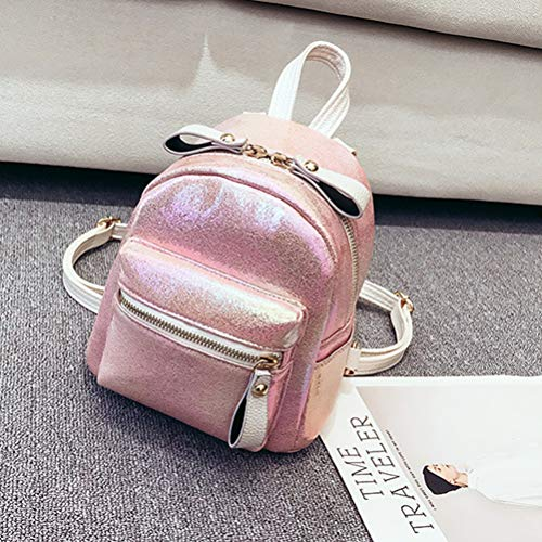 Amazon.com: BESTOYARD Womens Shoulder Bag Korean Version Pearl Pattern Glossy Shoulder Bag Simple Personality Wild Girl Small Backpack (Pink): Home & ...