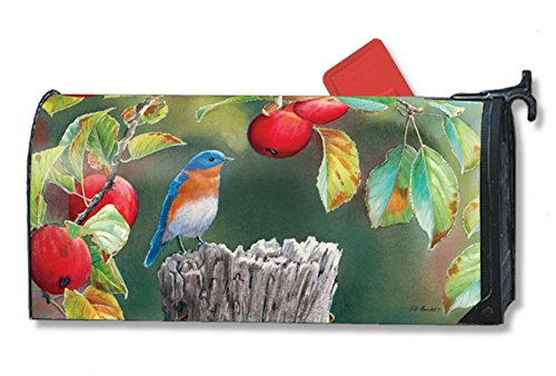 Mailwraps Orchard Bluebird Mailbox Cover 01009