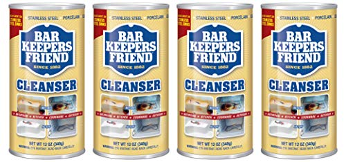 Classic Copper Soaking Tub - Bar Keepers Friend Powdered Cleanser 12-Ounces (4-Pack)