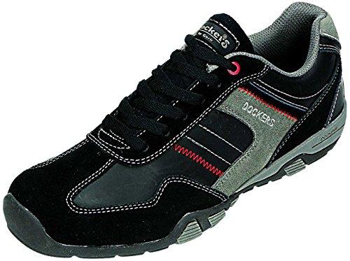 Dockers - Zapatos de cordones para hombre Negro negro/gris Negro - negro/gris