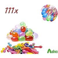 AOLVO 111 Wasserbomben Selbstschließend in 50 Sekunden | Wasserbomben Luftballons Klein für Sommerurlaub, Geburtstagsfeier, Wasser-Bombe/Kampf-Selbstschließend Ohne Knoten, Schnell und Einfach