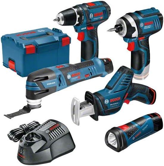 BOSCH Monster Kit Set K11 (GSR 12V-15 + GDR 12V-105 + GSA 12V-14 + GOP 12V-28 + GLI 12V-80 + 3x2,0 Ah + GAL1230CV + L-Boxx 238)