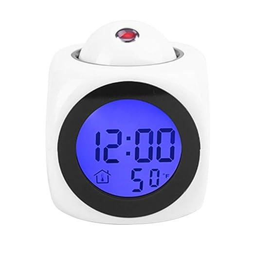 Reloj despertador de proyección, reloj despertador digital ...