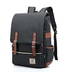 AchirStyle Slim Business Laptop Backpack Elegant Casual Daypacks Outdoor Sports Rucksack School Shoulder Bag for Men Women School Children (Black)