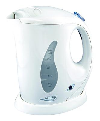 Adler AD 02 - Hervidor de agua, 0,6 litros, color blanco