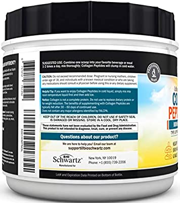 Collagen Peptides Protein Powder - Grass Fed, Pasture Raised with Aminos - Promotes Healthy Skin Hair & Nails – Bone & Joint Support - Hydrolyzed, Unflavored, Non GMO, Gluten Free - Easy to Mix -16 oz