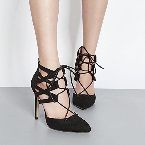 punta singolo Donna elegante ZHZNVX apricot primavera della alti con Inizio cinturino trasversale nuovo Scarpe a tracolla Scarpe scarpe tacchi fine Pw1awUxCq