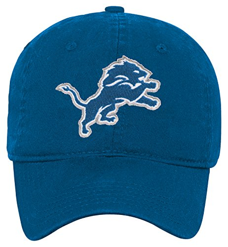 NFL Youth Boys Team Slouch Adjustable Hat-Lion Blue-1 Size, Detroit Lions