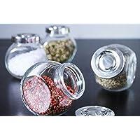 Kit 4 Porta Condimentos Temperos Cromado Cozinha
