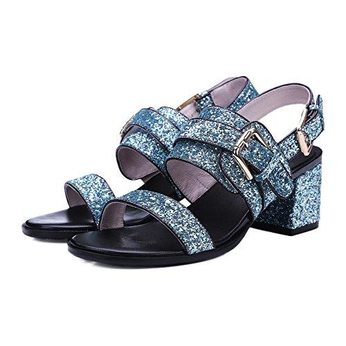 Sininen Sandaalit Avoin Sekoitus Kärki Agoolar Materiaaleja Solki Pentu Naisten kannoilla Kiinteä 7zUWZORwqv