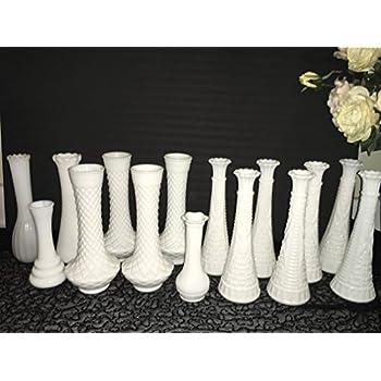 Amazon Small White Milk Glass Bud Vases Home Kitchen
