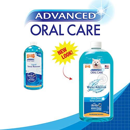 Nylabone (32oz) Advanced Oral Liquid Tartar Remover, Fights Bad Dog Breath, Promotes Dog Dental Care, Dog Breath Freshener Water Additive, Dog Health Supplies