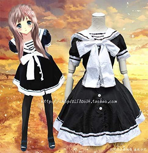 WSJDE Late Summer Navy Sailor Collar Cute Dress Cos Diffuse Lolita Dress Daily Service Small Fresh