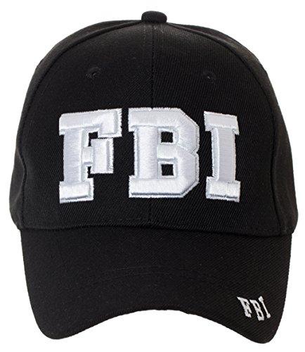 FBI Federal Bureau of Investigation Deluxe Black Embroidered Law Enforcement Novelty Baseball Cap
