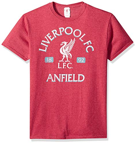 (Fifth Sun Official Liverpool FC Vintage Reds Men's Tee, Heather, x-Large)
