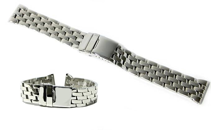 pacchetto alla moda e attraente tra qualche giorno economico in vendita Cinturino per orologio in acciaio pieno lucido ansa dritta ...