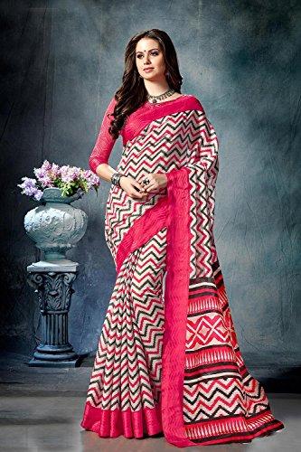 for Sarees Da Traditional Wear Designer Indian Facioun Party 2 Sari Women Wedding Cream CSHqpwS