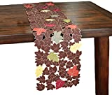 Xia Home Fashions Forest Blanket with Poly-Suede Cutwork Fall Table Runner, 13 by 70-Inch