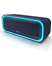 DOSS SoundBox Pro Portable Wireless Bluetooth Speaker with 20W Stereo Sound, Active Extra Bass, Wireless Stereo Paring, Multiple Colors Lights, Waterproof IPX5, 10 Hrs Battery Life -Blue
