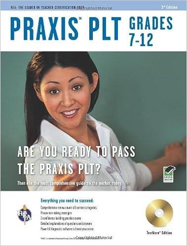 Praxis II PLT Grades 7-12 w/CD-ROM 3rd Ed. (PRAXIS Teacher Certification Test Prep) by Price Davis Ed.D. Dr. Anita Editors of REA PRAXIS (2011-05-09)