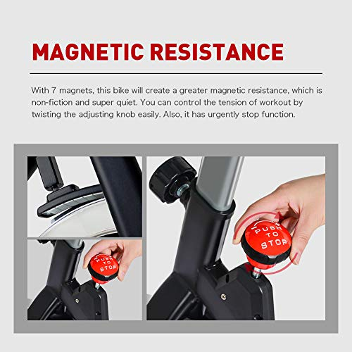 JOROTO Magnetic Resistance Exercise Bike Stationary Belt Drive Indoor Cycling Bikes Trainer Workout Cycle for Home 5