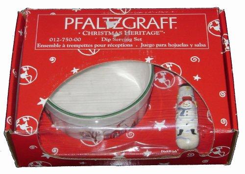 Dip Pfaltzgraff Set (Pfaltzgraff Christmas Heritage Dip Serving Set Bowl & Knife)